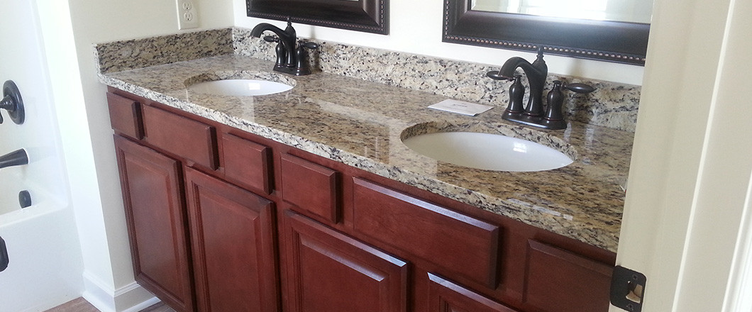 Custom granite countertops for bathrooms and kitchens